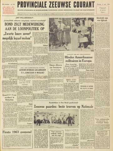 Provinciale Zeeuwse Courant 1963-09-14