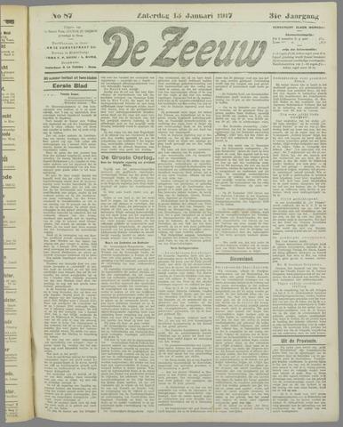 De Zeeuw. Christelijk-historisch nieuwsblad voor Zeeland 1917-01-13