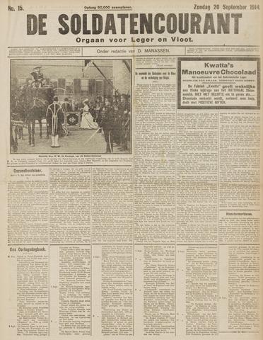 De Soldatencourant. Orgaan voor Leger en Vloot 1914-09-20