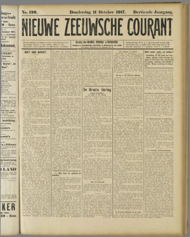 Nieuwe Zeeuwsche Courant 1917-10-11