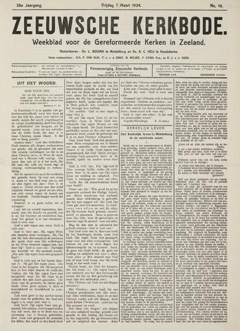 Zeeuwsche kerkbode, weekblad gewijd aan de belangen der gereformeerde kerken/ Zeeuwsch kerkblad 1924-03-07