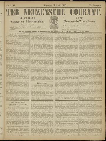 Ter Neuzensche Courant. Algemeen Nieuws- en Advertentieblad voor Zeeuwsch-Vlaanderen / Neuzensche Courant ... (idem) / (Algemeen) nieuws en advertentieblad voor Zeeuwsch-Vlaanderen 1886-04-17
