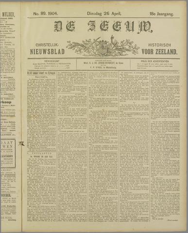 De Zeeuw. Christelijk-historisch nieuwsblad voor Zeeland 1904-04-26