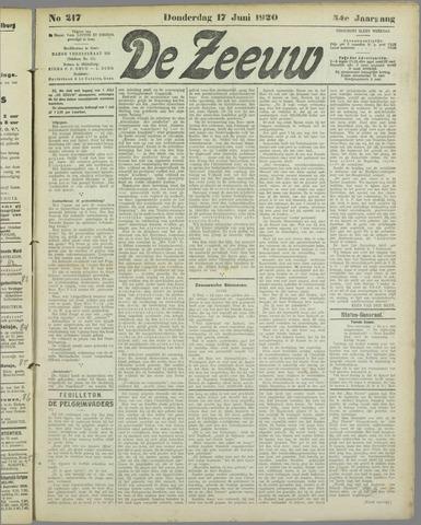De Zeeuw. Christelijk-historisch nieuwsblad voor Zeeland 1920-06-17