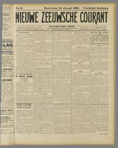 Nieuwe Zeeuwsche Courant 1918-01-24