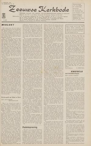 Zeeuwsche kerkbode, weekblad gewijd aan de belangen der gereformeerde kerken/ Zeeuwsch kerkblad 1963-01-11