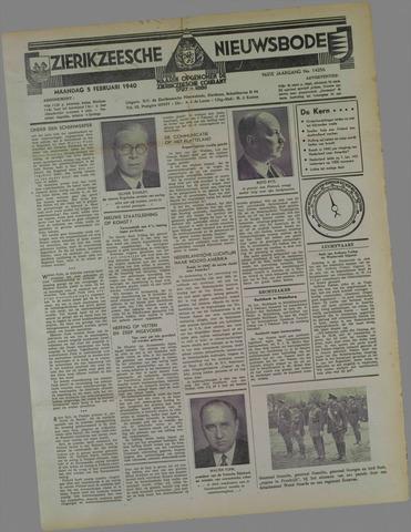 Zierikzeesche Nieuwsbode 1940-02-05