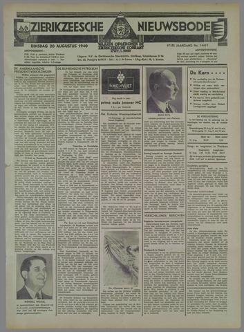 Zierikzeesche Nieuwsbode 1940-08-20