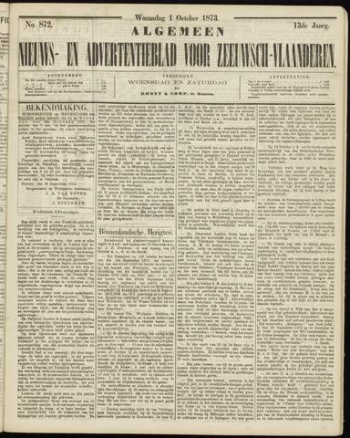 Ter Neuzensche Courant. Algemeen Nieuws- en Advertentieblad voor Zeeuwsch-Vlaanderen / Neuzensche Courant ... (idem) / (Algemeen) nieuws en advertentieblad voor Zeeuwsch-Vlaanderen 1873-10-01