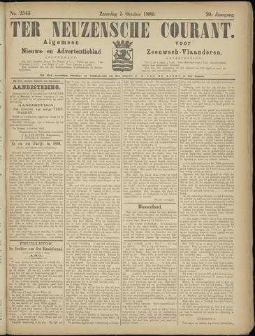 Ter Neuzensche Courant. Algemeen Nieuws- en Advertentieblad voor Zeeuwsch-Vlaanderen / Neuzensche Courant ... (idem) / (Algemeen) nieuws en advertentieblad voor Zeeuwsch-Vlaanderen 1889-10-05