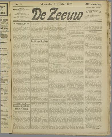 De Zeeuw. Christelijk-historisch nieuwsblad voor Zeeland 1917-10-03