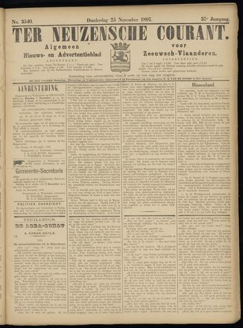 Ter Neuzensche Courant. Algemeen Nieuws- en Advertentieblad voor Zeeuwsch-Vlaanderen / Neuzensche Courant ... (idem) / (Algemeen) nieuws en advertentieblad voor Zeeuwsch-Vlaanderen 1897-11-25