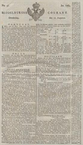 Middelburgsche Courant 1762-08-12