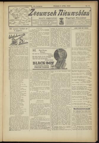 Zeeuwsch Nieuwsblad/Wegeling's Nieuwsblad 1935-04-05