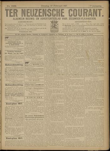 Ter Neuzensche Courant. Algemeen Nieuws- en Advertentieblad voor Zeeuwsch-Vlaanderen / Neuzensche Courant ... (idem) / (Algemeen) nieuws en advertentieblad voor Zeeuwsch-Vlaanderen 1917-02-27