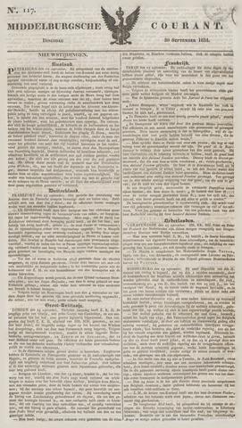 Middelburgsche Courant 1834-09-30