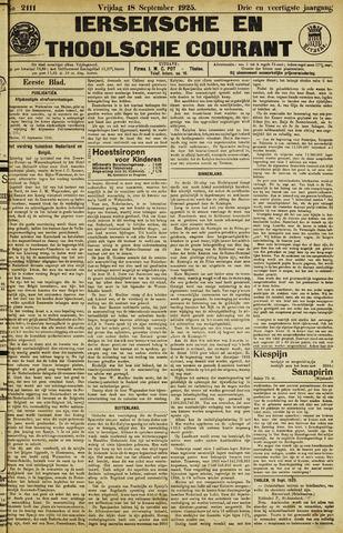 Ierseksche en Thoolsche Courant 1925-09-18