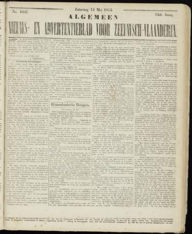 Ter Neuzensche Courant. Algemeen Nieuws- en Advertentieblad voor Zeeuwsch-Vlaanderen / Neuzensche Courant ... (idem) / (Algemeen) nieuws en advertentieblad voor Zeeuwsch-Vlaanderen 1875-05-15
