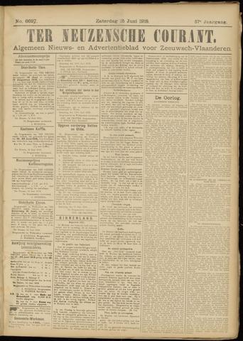 Ter Neuzensche Courant. Algemeen Nieuws- en Advertentieblad voor Zeeuwsch-Vlaanderen / Neuzensche Courant ... (idem) / (Algemeen) nieuws en advertentieblad voor Zeeuwsch-Vlaanderen 1918-06-15