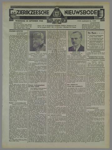 Zierikzeesche Nieuwsbode 1940-09-25