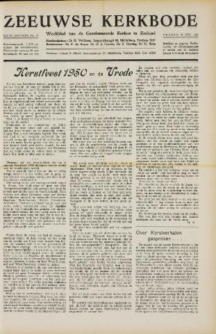 Zeeuwsche kerkbode, weekblad gewijd aan de belangen der gereformeerde kerken/ Zeeuwsch kerkblad 1950-12-22