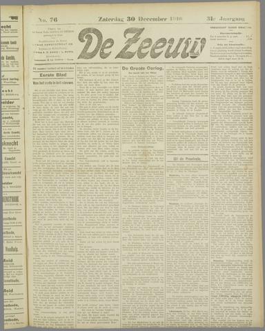 De Zeeuw. Christelijk-historisch nieuwsblad voor Zeeland 1916-12-30