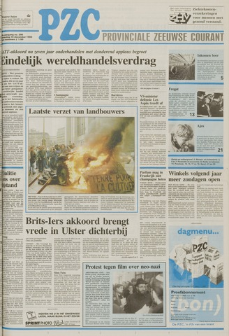 Provinciale Zeeuwse Courant 1993-12-16