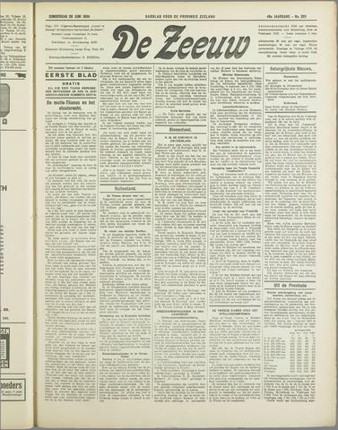 De Zeeuw. Christelijk-historisch nieuwsblad voor Zeeland 1934-06-28