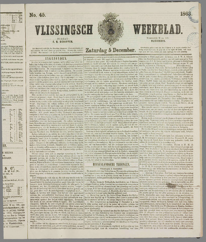 Vlissings Weekblad 1863-12-05