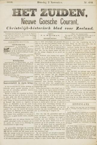 Het Zuiden, Christelijk-historisch blad 1880-11-02
