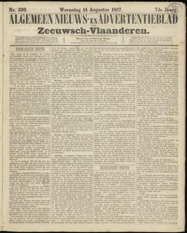 Ter Neuzensche Courant. Algemeen Nieuws- en Advertentieblad voor Zeeuwsch-Vlaanderen / Neuzensche Courant ... (idem) / (Algemeen) nieuws en advertentieblad voor Zeeuwsch-Vlaanderen 1867-08-14