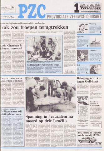 Provinciale Zeeuwse Courant 1990-10-22