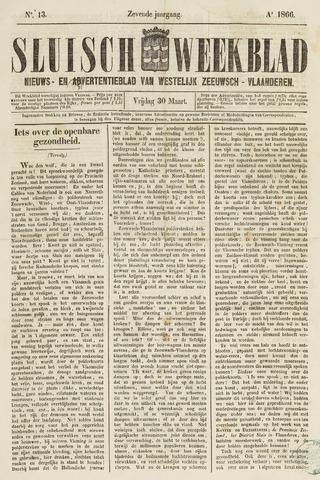 Sluisch Weekblad. Nieuws- en advertentieblad voor Westelijk Zeeuwsch-Vlaanderen 1866-03-30