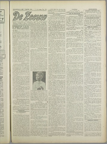 De Zeeuw. Christelijk-historisch nieuwsblad voor Zeeland 1943-09-06