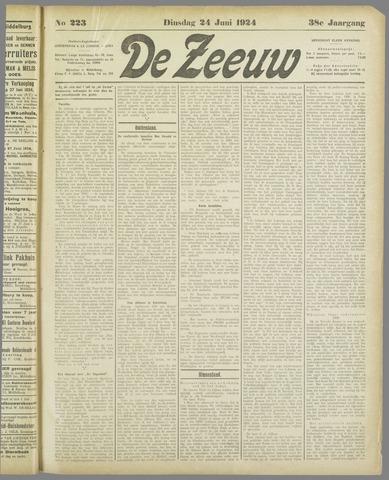 De Zeeuw. Christelijk-historisch nieuwsblad voor Zeeland 1924-06-24