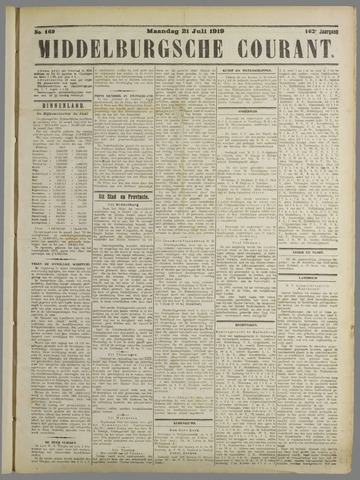 Middelburgsche Courant 1919-07-21