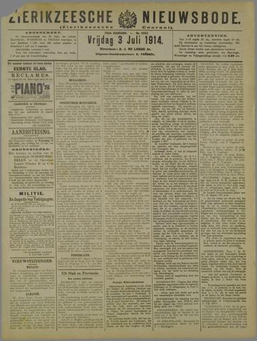 Zierikzeesche Nieuwsbode 1914-07-03