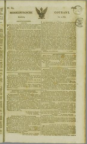 Middelburgsche Courant 1825-07-14