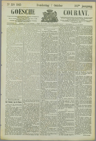Goessche Courant 1915-10-07