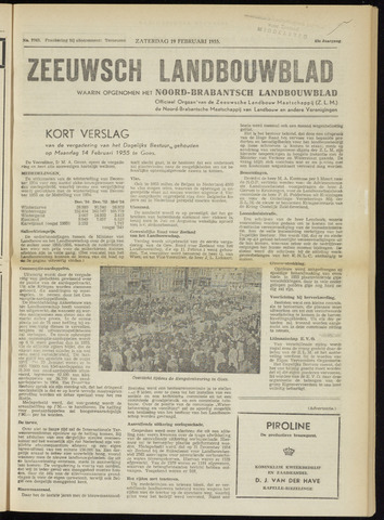 Zeeuwsch landbouwblad ... ZLM land- en tuinbouwblad 1955-02-19