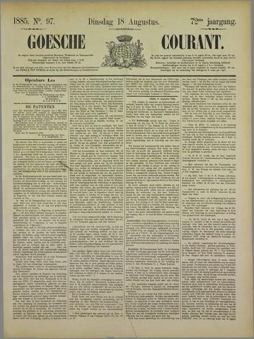 Goessche Courant 1885-08-18