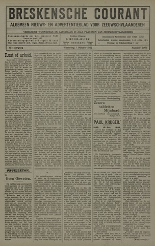 Breskensche Courant 1925-10-07