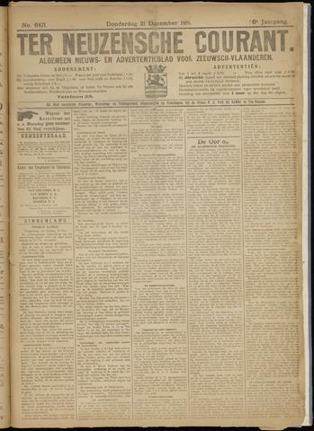 Ter Neuzensche Courant. Algemeen Nieuws- en Advertentieblad voor Zeeuwsch-Vlaanderen / Neuzensche Courant ... (idem) / (Algemeen) nieuws en advertentieblad voor Zeeuwsch-Vlaanderen 1916-12-21