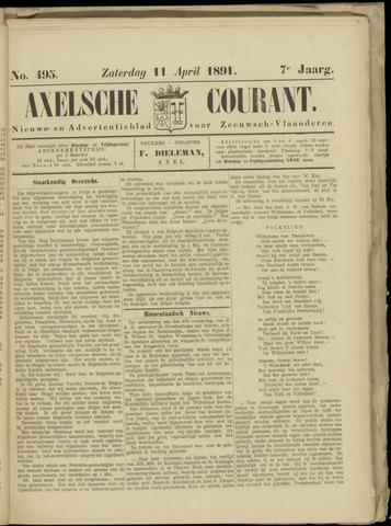 Axelsche Courant 1891-04-11