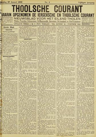 Ierseksche en Thoolsche Courant 1933-01-27