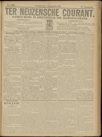 Ter Neuzensche Courant. Algemeen Nieuws- en Advertentieblad voor Zeeuwsch-Vlaanderen / Neuzensche Courant ... (idem) / (Algemeen) nieuws en advertentieblad voor Zeeuwsch-Vlaanderen 1917-08-09