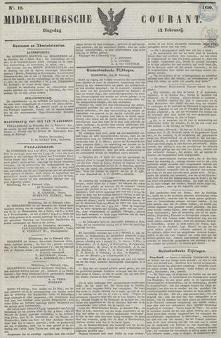 Middelburgsche Courant 1850-02-12