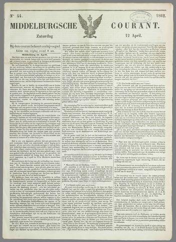 Middelburgsche Courant 1862-04-12