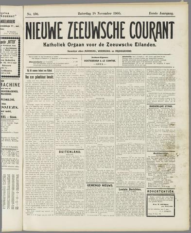 Nieuwe Zeeuwsche Courant 1905-11-18