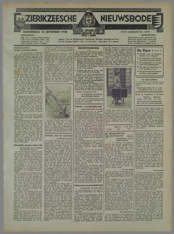 Zierikzeesche Nieuwsbode 1940-09-12